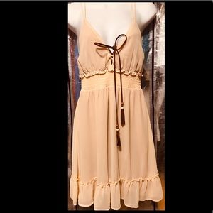 Blouse/Slip Mini Dress